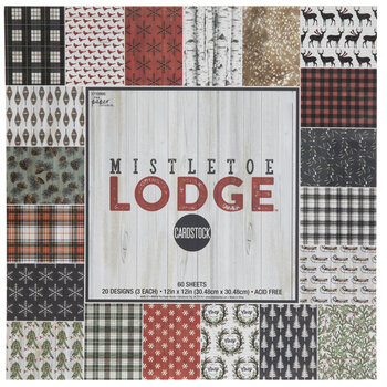 "Mistletoe Lodge Cardstock Paper Pack - 12"" x 12"""