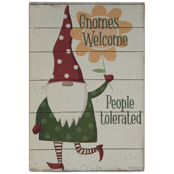 Gnomes Welcome Wood Decor