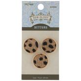 Leopard Print Faux Fur Shank Buttons