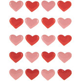 Pink & Red Hearts 3D Stickers