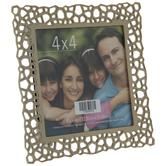 "Gold Geometric Cutout Metal Frame - 4"" x 4"""