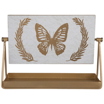 Bee & Butterfly Rotating Metal Decor