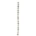 White & Beige Round Glass Bead Strand