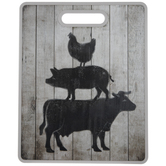 Stacked Farm Animals Cutting Board