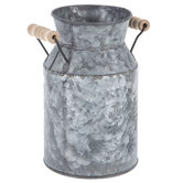 Embossed Galvanized Metal Milk Can