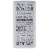 Happy Home Recipe Metal Wall Decor