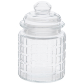Woven Squares Glass Jar