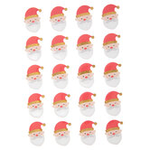 Red & Gold Santa Stickers