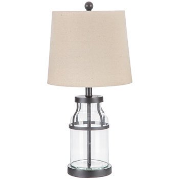 Trimmed Glass Lamp