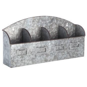 Galvanized Metal Wall Organizer