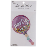Party Time Confetti Shaker Sticker
