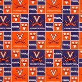 Virginia Block Collegiate Cotton Fabric
