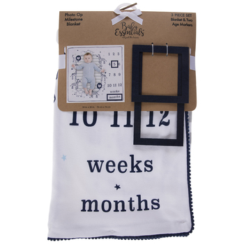 Navy Animal Milestone Blanket