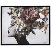 Floral Queen Canvas Wall Decor
