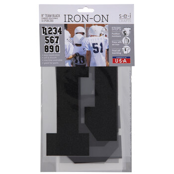 Vinyl Number Iron-On Appliques