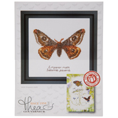 Emperor Moth Counted Cross Stitch Kit