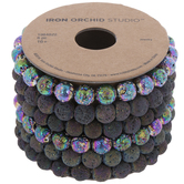 Iridescent Lava Bead Bracelets