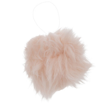 Pink Fuzzy Ball Ornaments