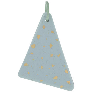 Blue & Gold Speckled Triangle Notebook On Ring