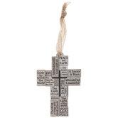 Peace On Earth Cross Ornament