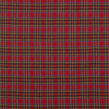Red Royal Stewart Tartan Cotton Calico Fabric