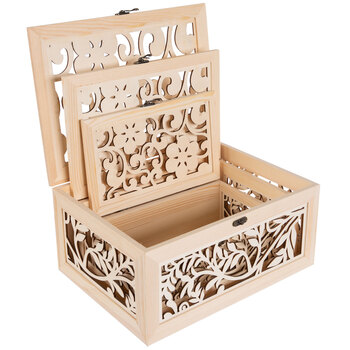 Floral Wood Box Set