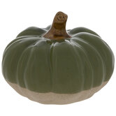 Green Two-Tone Pumpkin