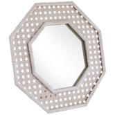 Octagon Woven Metal Mirror