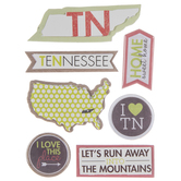 Tennessee Icons 3D Stickers