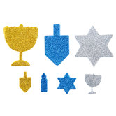 Hanukkah Glitter Foam Stickers