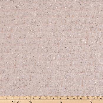 Blush & Gold Tiered Ruffle Knit Fabric
