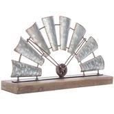 Half Windmill Metal Decor