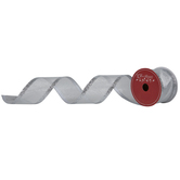"Silver Glitter Wired Edge Sheer Ribbon - 2 1/2"""