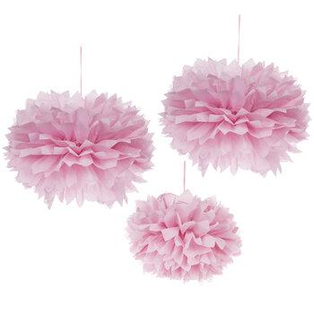 Light Pink Tissue Pom Poms