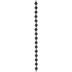 Black Round Silicone Bead Strand - 8mm
