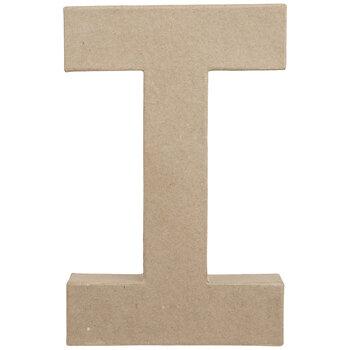 "Paper Mache Letter I - 8 1/4"""
