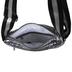 Dark Silver Metallic Puff Crossbody Handbag