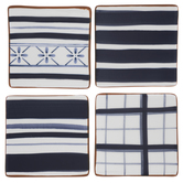 Blue Striped & Plaid Coasters