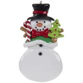 Christmas Tree & Snowman Ornament
