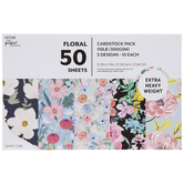 "Floral Cardstock Paper Pack - 8 1/2"" x 11"""