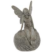 Fairy Sitting On Rock