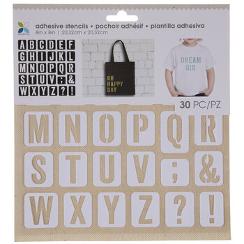 Sans Serif Uppercase Alphabet Adhesive Stencils