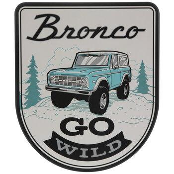 Bronco Go Wild Wood Wall Decor