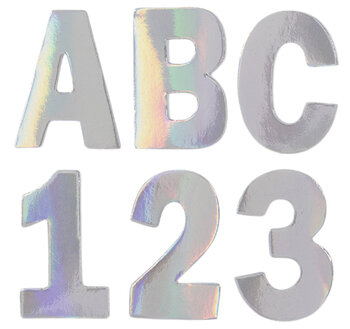 Holographic Foil Alphabet Stickers