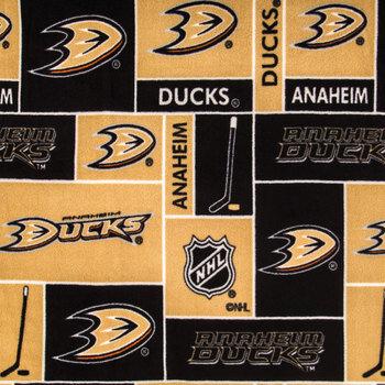 NHL Anaheim Ducks Block Fleece Fabric