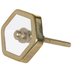 Gold Hexagon Metal Knob