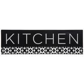 Kitchen With Tile Pattern Metal Sign