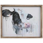 Black & White Cow Wood Wall Decor