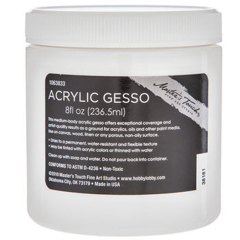 White Master's Touch Acrylic Gesso - 8 Ounce