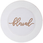 Blessed Wood Charger Plate